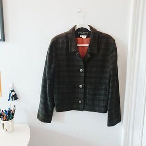Vintage | Plaid wool blazer